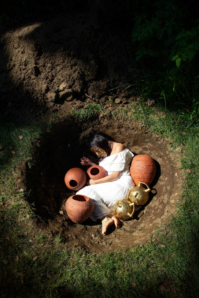 "Natalia Arbelaez, ""Ceremonies for González, Burial"""