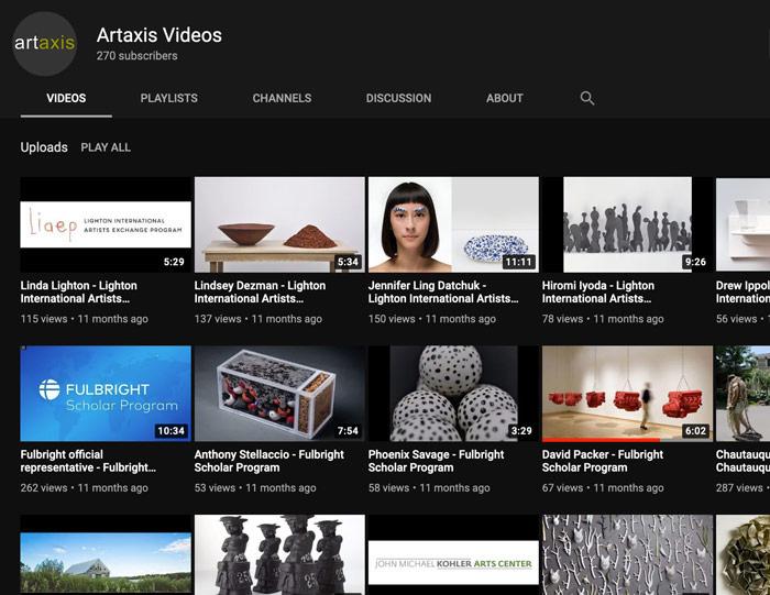 Artaxis YouTube page screenshot
