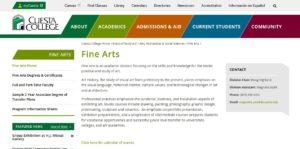 Cuesta College website screenshot