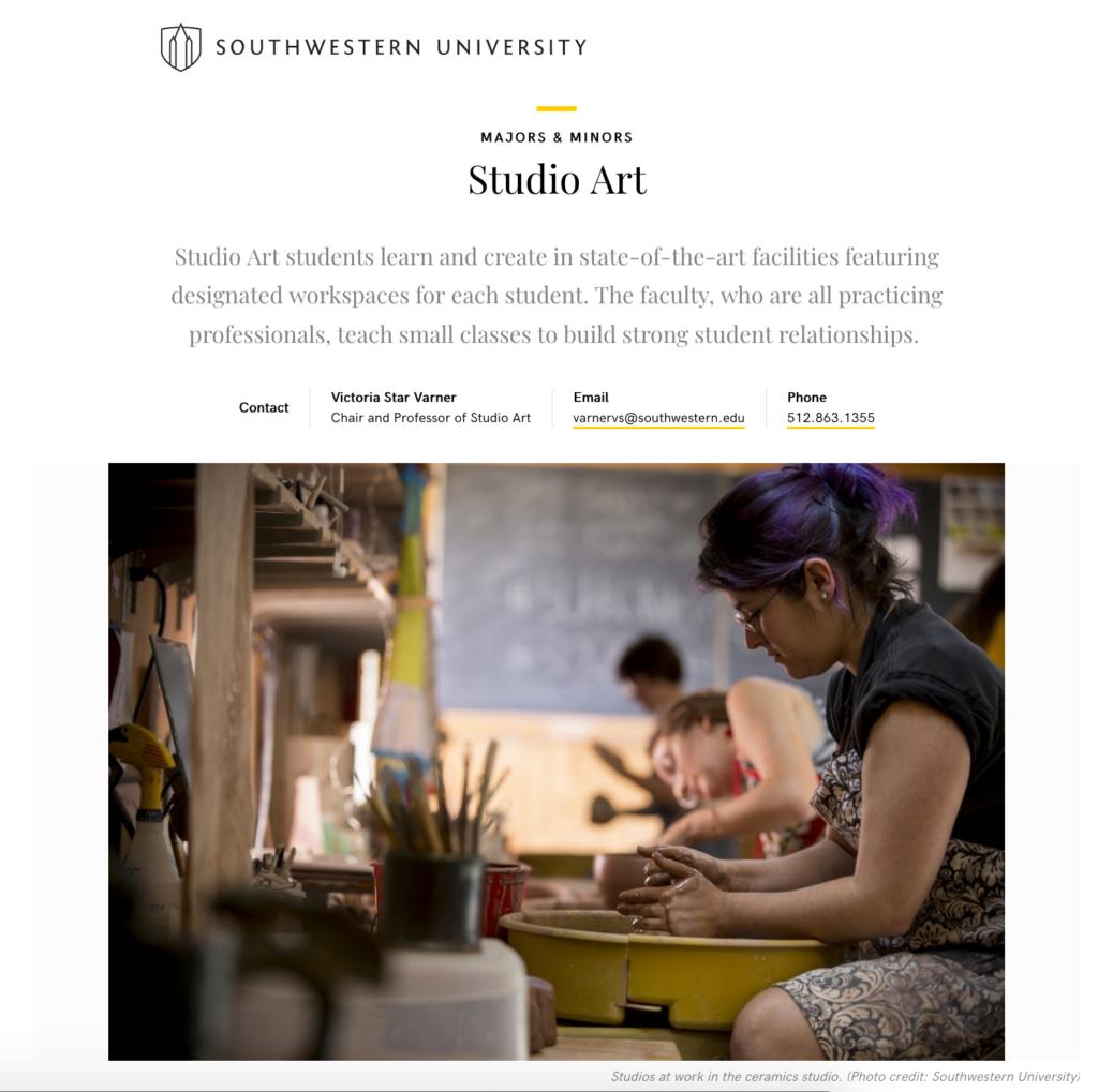 Studio Art - Southwestern University
