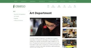 SUNY Oswego website screenshot