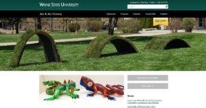 Wayne State University website screenshot